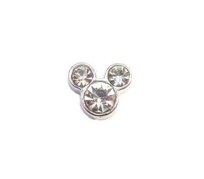 Floating Charms Floating charm geboortesteentje mouse april voor de memory locket