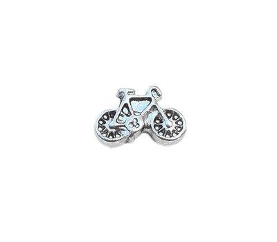 Floating Charms Floating charm fiets zilverkleurig voor de memory locket