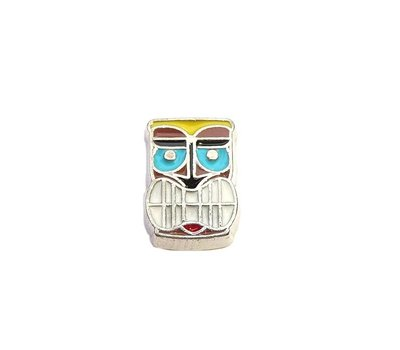 Floating Charms Floating charm tiki face voor de memory locket