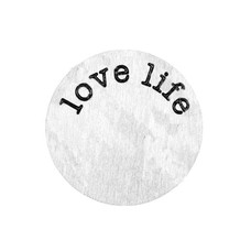 Floating locket  discs Memory locket disk love life zilverkleurig