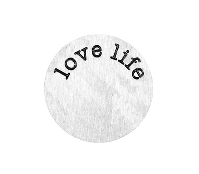 Floating locket  discs Memory locket disk love life zilverkleurig