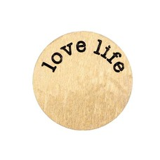 Floating locket  discs Memory locket disk love life goudkleurig