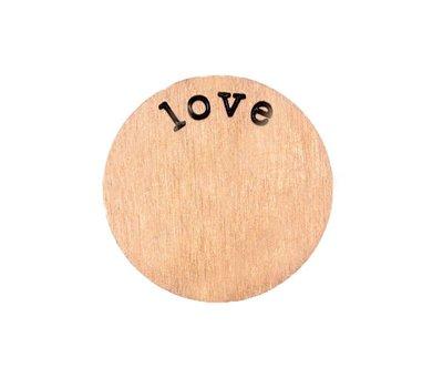 Floating locket  discs Memory locket disk love rosé goudkleurig