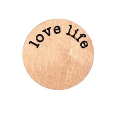 Floating locket  discs Memory locket disk love life rosé goudkleurig large
