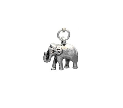 Clip on charms Olifant dangle