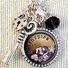 Clip on charms Geboortesteentje dangle april