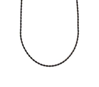 Ketting zonder hanger Zwarte rvs rope ketting