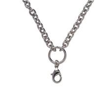 Ketting zonder hanger Zilverkleurige rvs solid loop ketting
