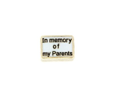 Floating Charms Floating charm in memory of my parents voor de memory locket