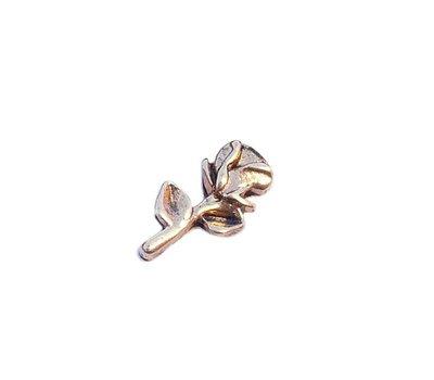 Floating Charms Floating charm roos goudkleurig voor de memory locket