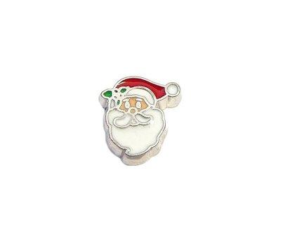Floating Charms Floating charm santa gezicht voor de memory locket