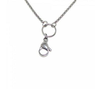 Ketting zonder hanger Zilverkleurige rvs medium loop ketting