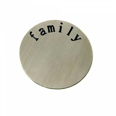 Floating locket  discs Memory locket disk family zilverkleurig