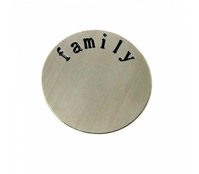 Floating locket  discs Memory locket disk family zilverkleurig