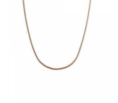 Ketting zonder hanger Rosé goudkleurige rvs snake ketting