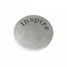 Floating locket  discs Memory locket disk inspire zilverkleurig large