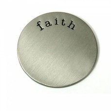 Floating locket  discs Memory locket disk faith zilverkleurig