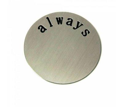 Floating locket  discs Memory locket disk always zilverkleurig