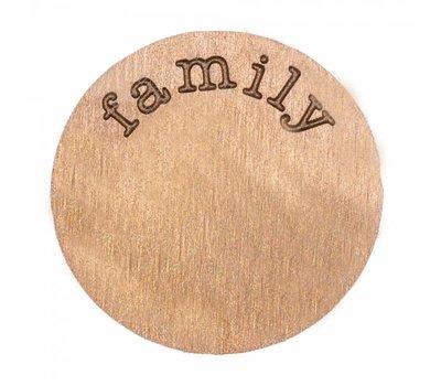 Floating locket  discs Memory locket disk family rosé goudkleurig