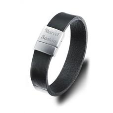 Armband met Naam Armband met tekst zwart