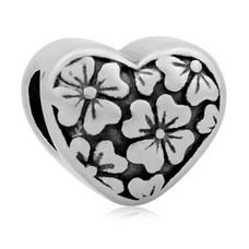 Bedels en Kralen Bedel bloemetjes zilverkleurig