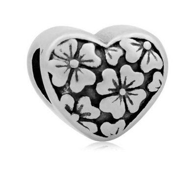 Bedels en Kralen Bedel bloemtjes zilverkleurig voor bedelarmbanden