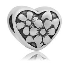 Bedels en Kralen Bedel flower zilverkleurig
