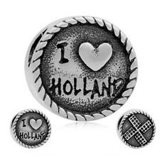 Bedels en Kralen Bedel Holland zilverkleurig