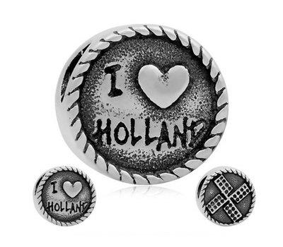 Bedels en Kralen Bedel Holland zilverkleurig voor bedelarmbanden