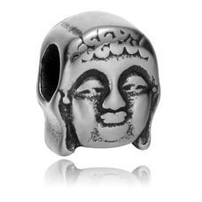 Bedels en Kralen Bedel boeddha zilverkleurig