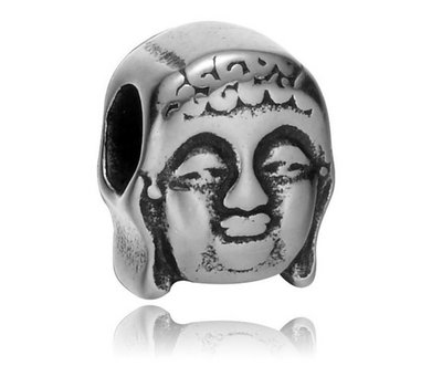 Bedels en Kralen Bedel boeddha zilverkleurig voor bedelarmbanden