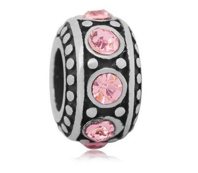 Bedels en Kralen Bedel steentjes roze voor bedelarmbanden