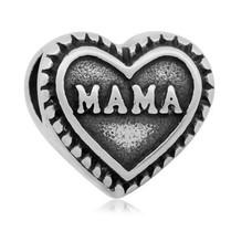 Bedels en Kralen Bedel mama zilverkleurig
