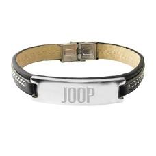 Armband met Naam Leren armband heren graveren