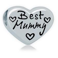 Bedels en Kralen Bedel beste moeder zilverkleurig