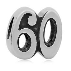 Bedels en Kralen Bedel 60 zilverkleurig