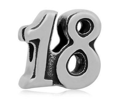 Bedels en Kralen Bedel 18 zilverkleurig voor bedelarmbanden