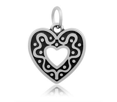 Hangende Bedels Hangende bedel hart in hart zilverkleurig