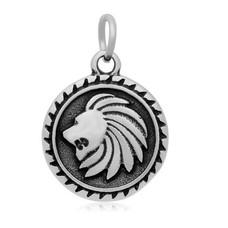 Hangende Bedels Hangende bedel leeuw zilverkleurig