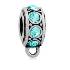 Hangende Bedels Bedel met oog kristal blauw zilverkleurig