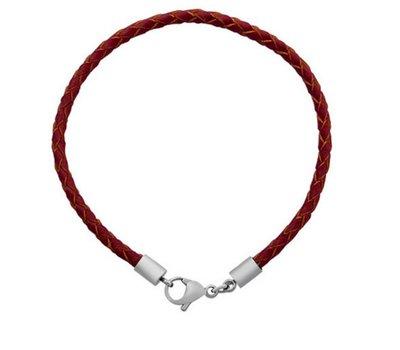 Armband voor Bedels Bedelarmband leer licht bruin
