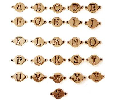 Sieraden met naam Rosé Goudkleurige Letters voor Armband met Naam