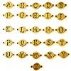 Sieraden met naam Goudkleurige Letters voor Armband met Naam