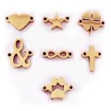Sieraden met naam Rosé Goudkleurige Symbolen voor Armband met Naam