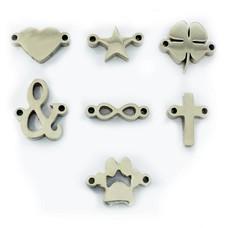 Sieraden met naam Zilverkleurige Symbolen voor Armband met Naam