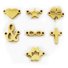 Sieraden met naam Goudkleurige  Symbolen voor Armband met Naam