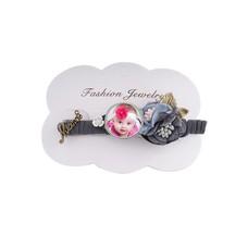 Fotoproducten Haarspeld met foto bloem grijs