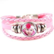 Armband met Foto Armband met Foto Roze Triple