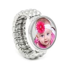 Ring met Foto Ring met foto Flexibel Zilverkleurig