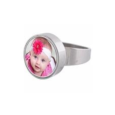 Ring met Foto Zilverkleurige Ring met foto